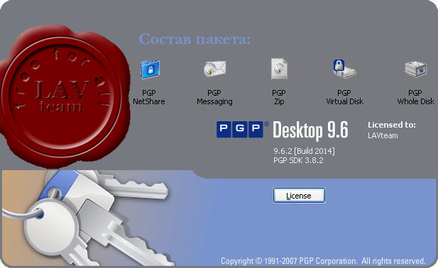 PGP Desktop Professional v9.6.2 + documentation
