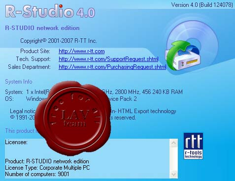R-Tools Technology R-Studio v4.0 build 124078 network edition