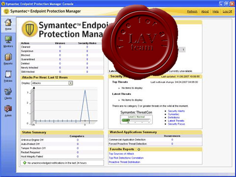 Symantec Endpoint Protection Manager v11.0.4000.2295 Retail