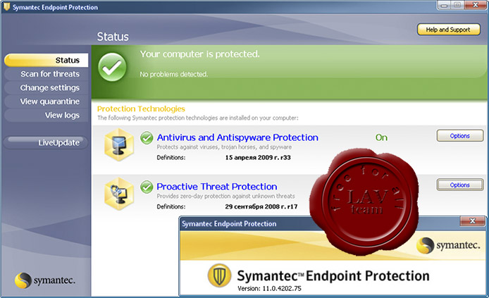 Symantec Endpoint Protection v11.0.4202.75 MR4 MP2