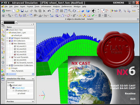 Siemens PLM Software Unigraphics NX6 CAST