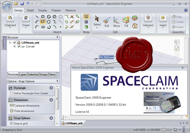 SpaceClaim v2009 Engineer