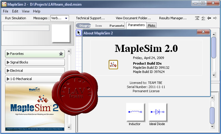 Waterloo Maplesoft MapleSim v2.0