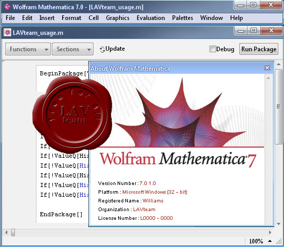 Wolfram Research Mathematica v7.0.1