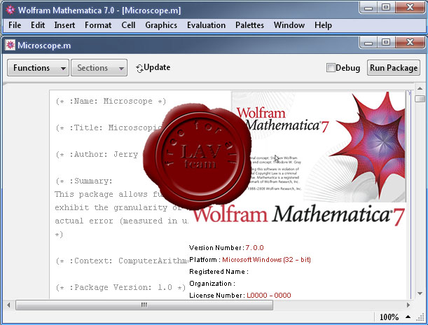 Wolfram Research Mathematica v7.0.0