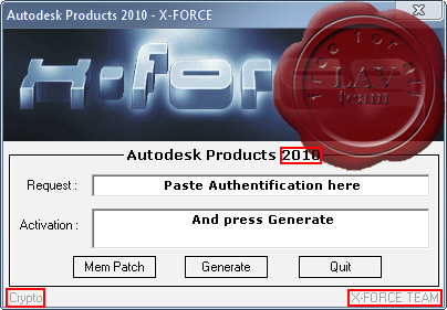 X-force keygen for ALL Autodesk products v2010 x86+x64.