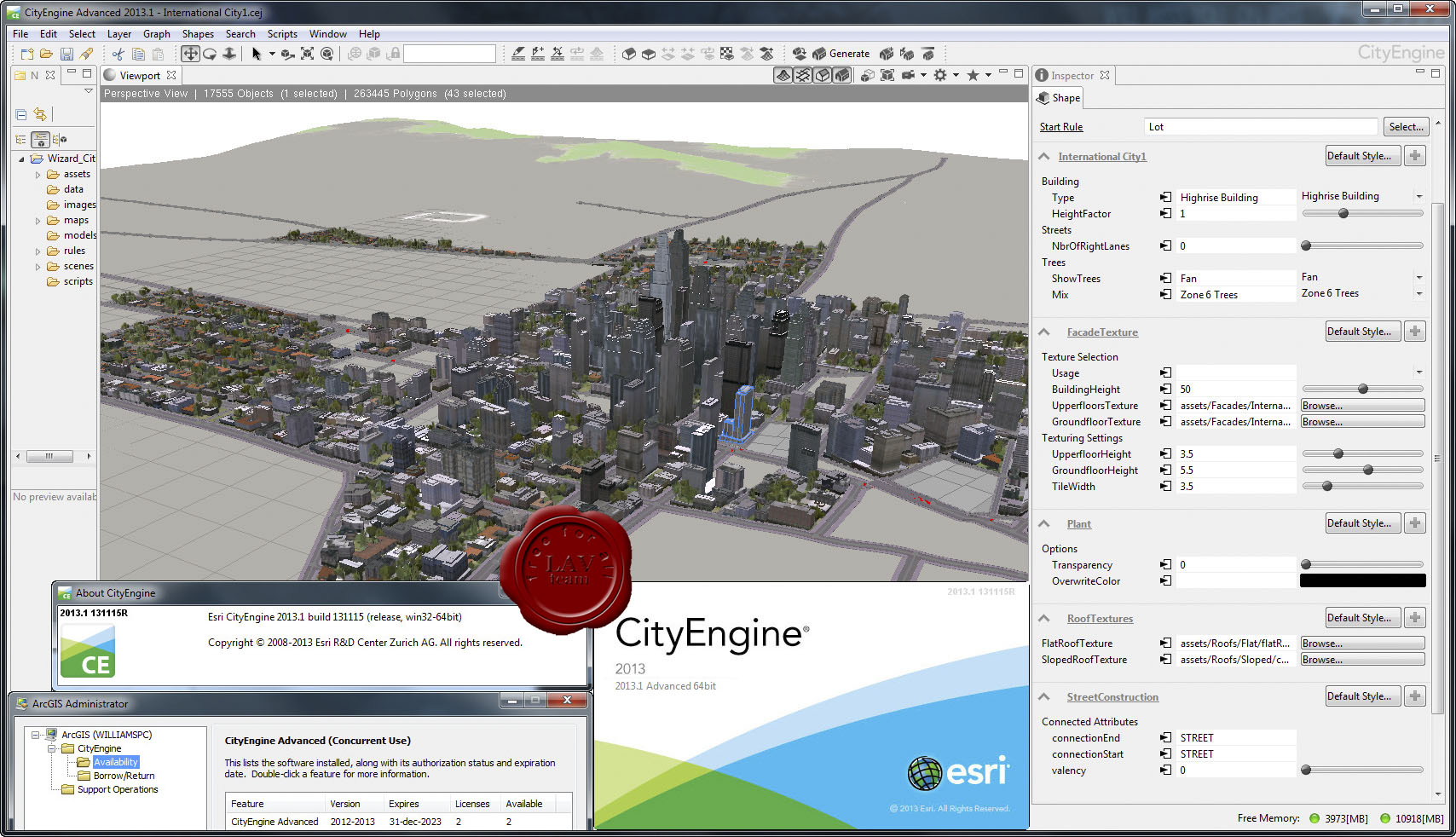 Esri cityengine Advanced 2014